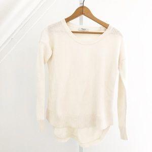Madewell Off White Crewneck Sweater